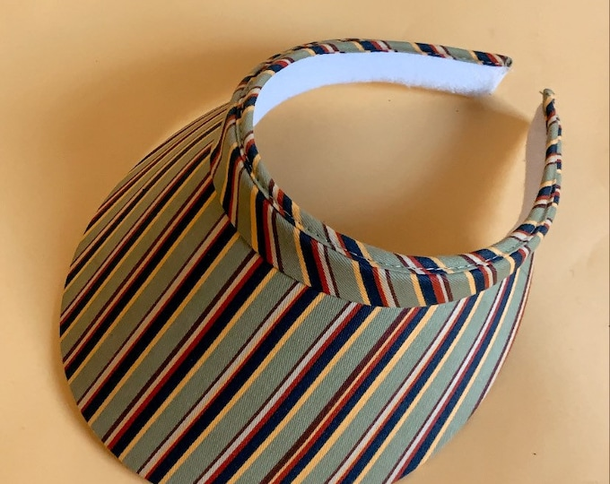 Vintage 80s Striped Visor
