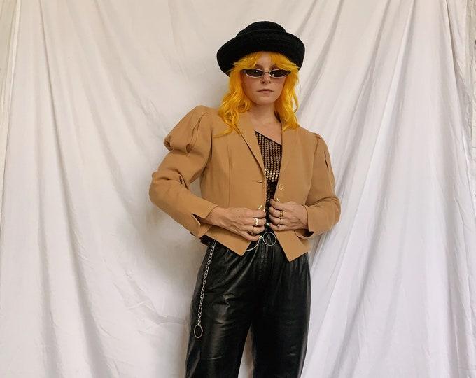 Vintage Tan Cropped Blazer
