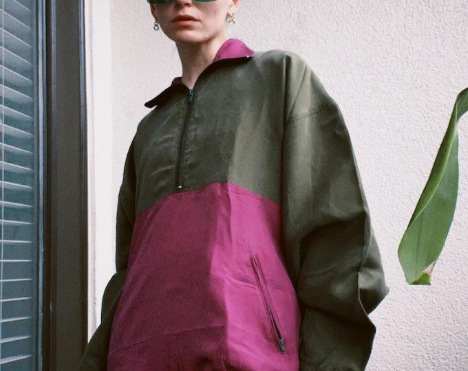 Vintage 90s   Silk Color Block Pullover