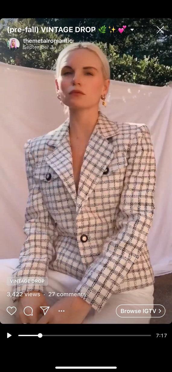 Vintage 90s | Silk Tweed Blazer