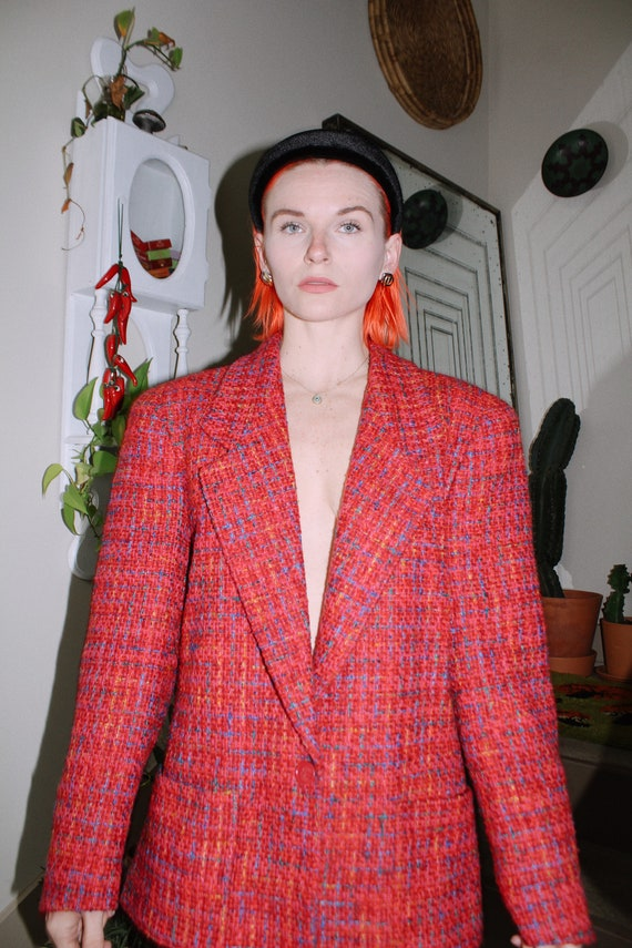 Colorful Tweed Blazer - image 2
