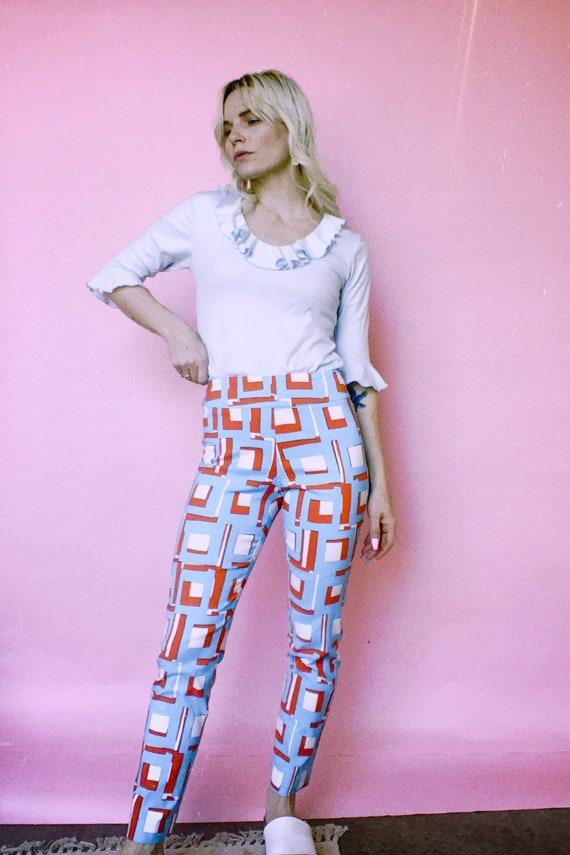 Vintage 90s   Krazy Larry Printed Pants - image 4