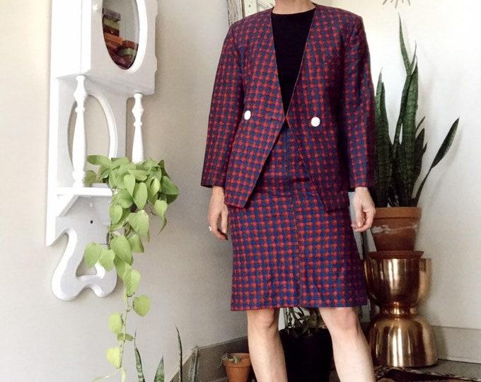 Vintage Plaid Suit