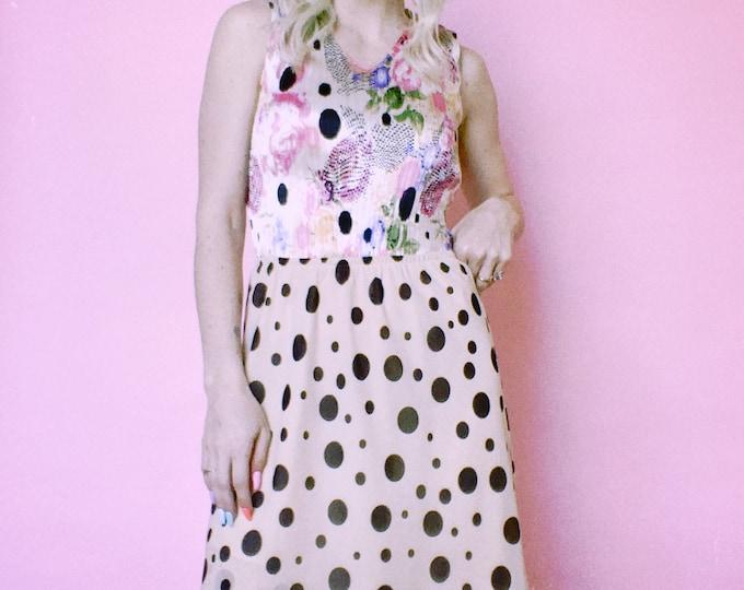 Vintage 90s   Polka Dot Skirt