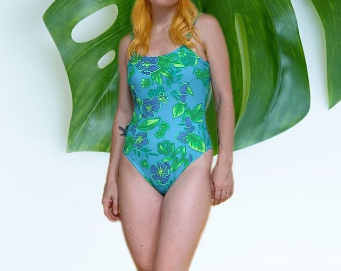 Vintage 90s Beach Cabana Swimsuit