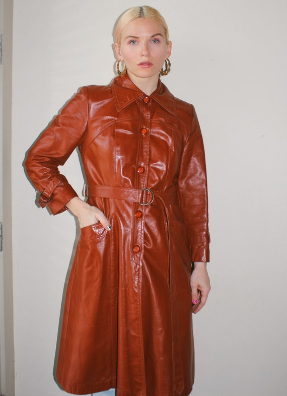 Vintage 70s | Leather Trench