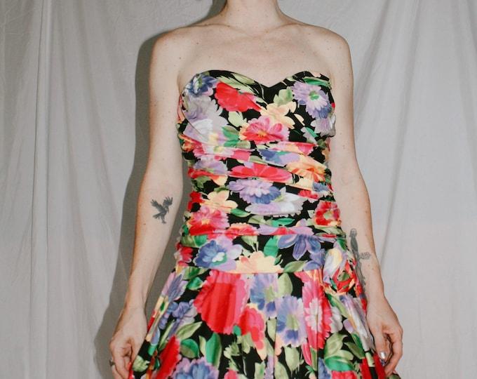 Vintage 80s/90s Bold Floral Print Dress