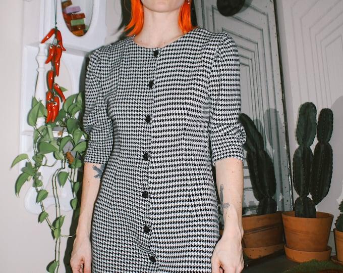 Houndstooth Knit Dress