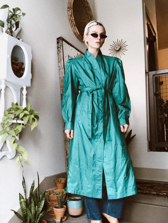 Turquoise Duster Coat - image 1