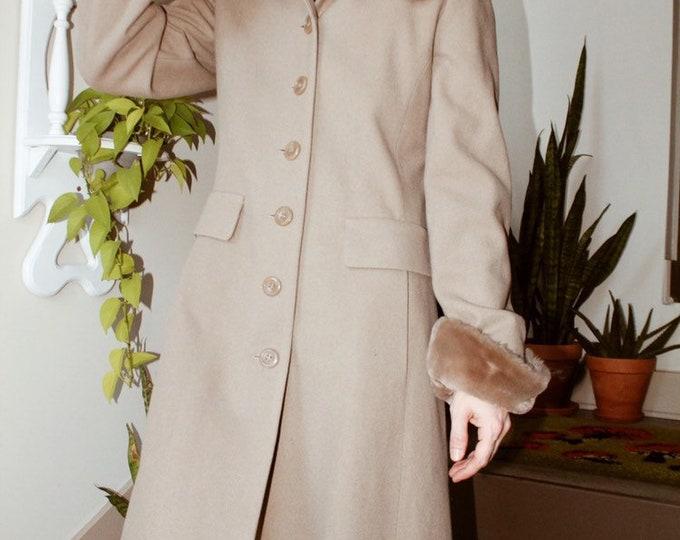 Wool/Faux Fur Coat