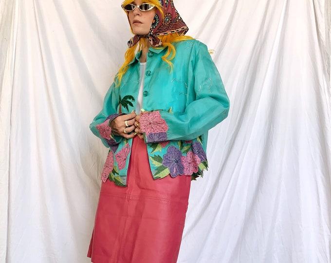 Vintage 90s Pink Leather Mini