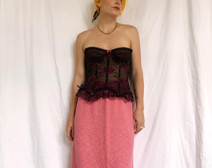 Vintage Bubblegum Pink Knit Skirt