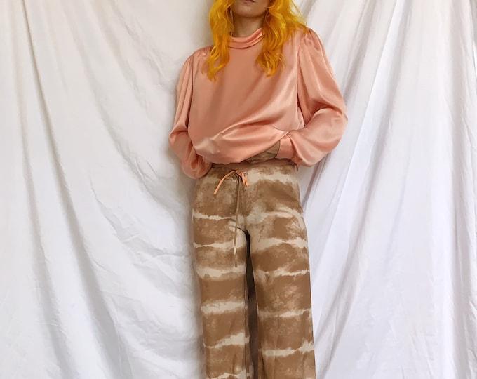 Low Rise Tie-dye Wide Leg Drawstring Pants