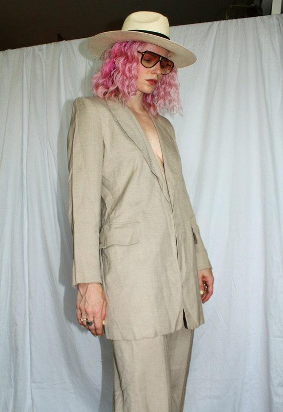 Vintage 80s   Tan Pant Suit
