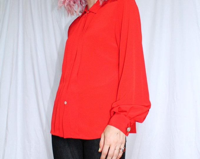 Vintage 80s | Liz Claiborne Red Blouse
