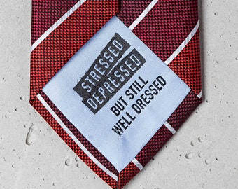 """red-striped business tie """"Freud"""""""