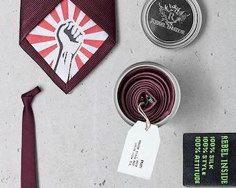 "Business Tie ""Kusunoki"" burgundy"