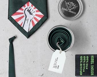 """Business Tie """"Kusunoki"""" green"""