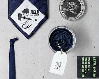 "Subversive Business Tie ""Stakhanov"" blue"