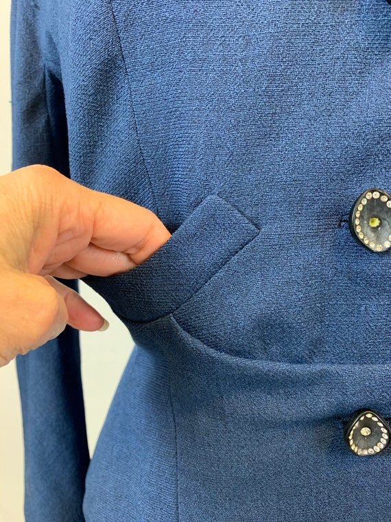 Blue Victory 1940's skirt suit - image 6