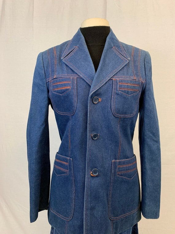 70's denim blazer