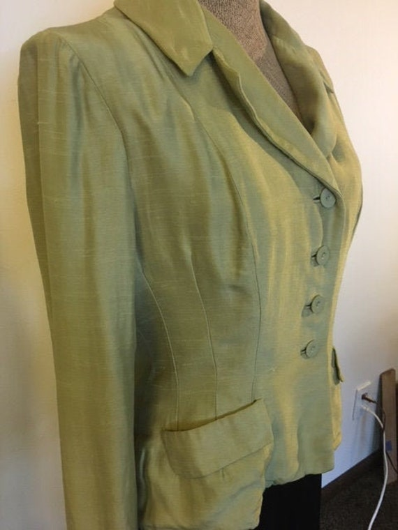 40's chartreuse jacket