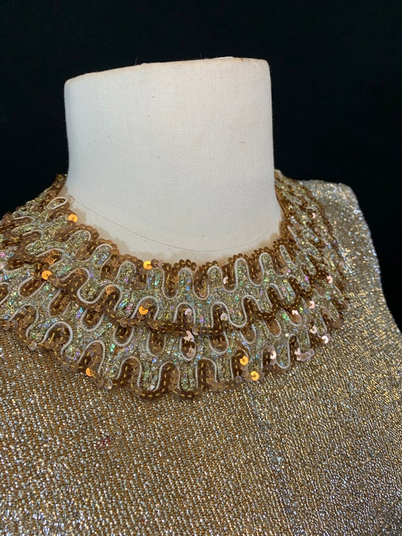 60's Gold sparkly cocktail dress
