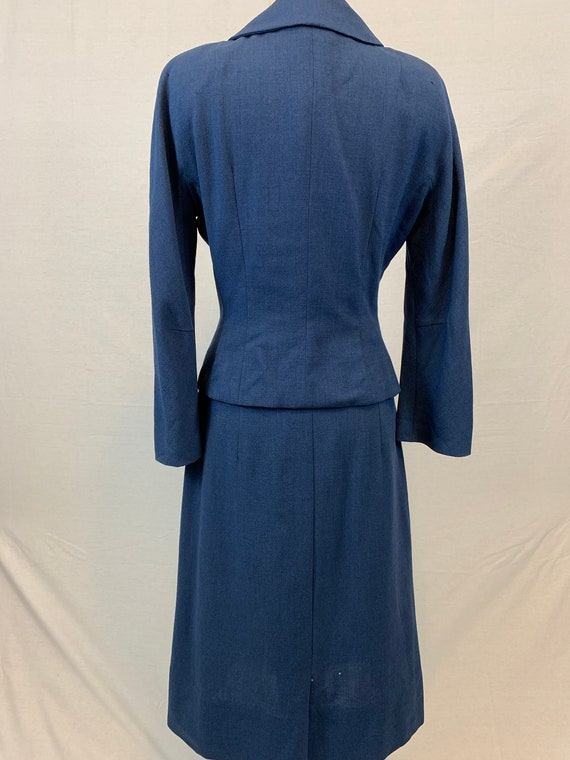 Blue Victory 1940's skirt suit - image 3
