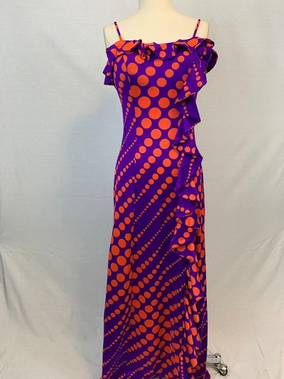 Mod ruffle maxi dress