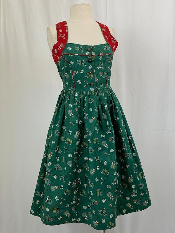 Vintage Darling Print Dirndl Dress