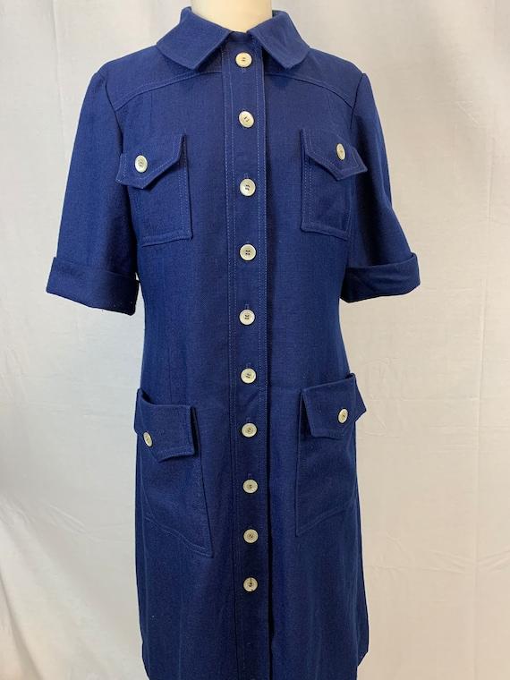 Patch pocket coat dress