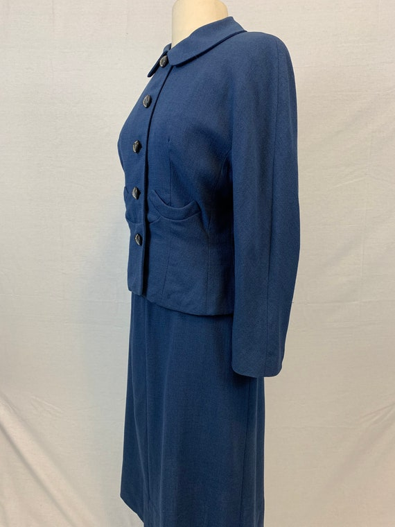 Blue Victory 1940's skirt suit - image 2
