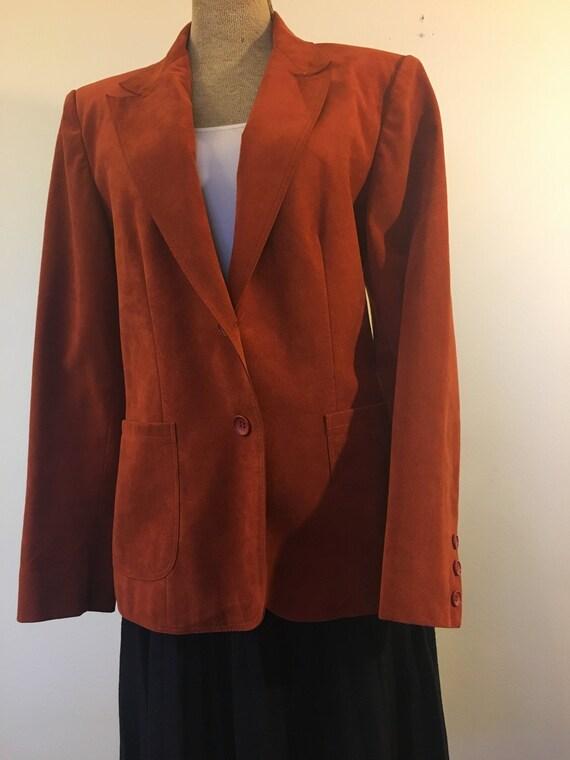 Perfect Lilli Ann Ultrasuade blazer - image 1