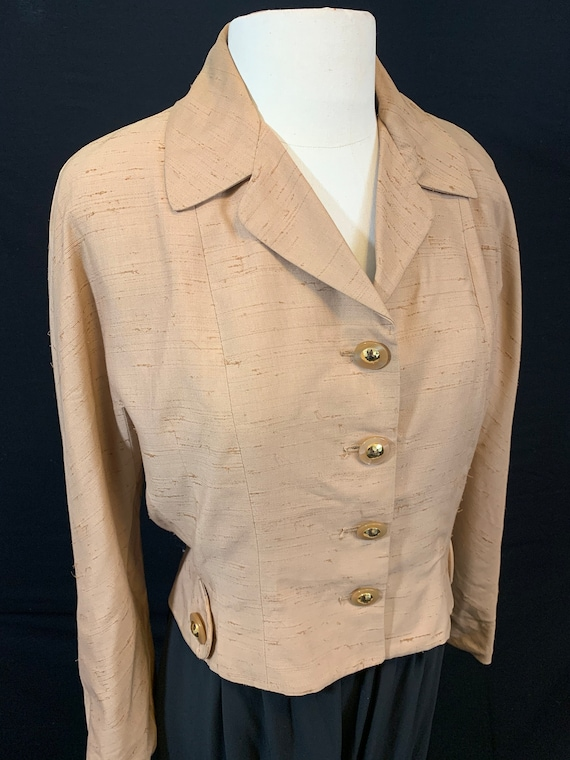 40's raw silk jacket with amazing buttons