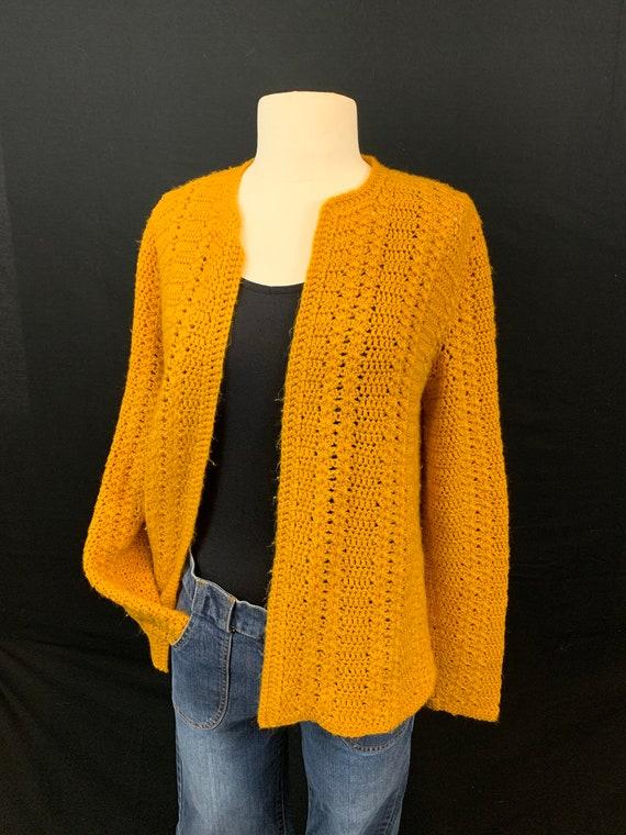 Marigold crochet open front cardigan - image 3