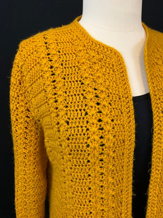 Marigold crochet open front cardigan - image 5