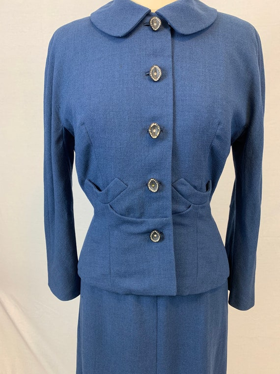 Blue Victory 1940's skirt suit - image 5