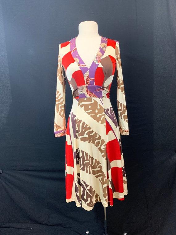 Issa London silk bold print jersey dress