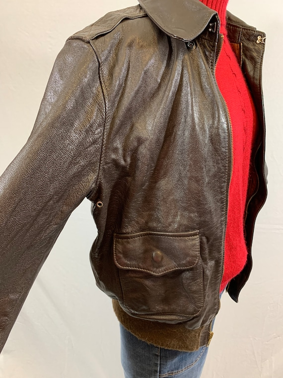 A-2 Leather Bomber Flight Jacket - image 3