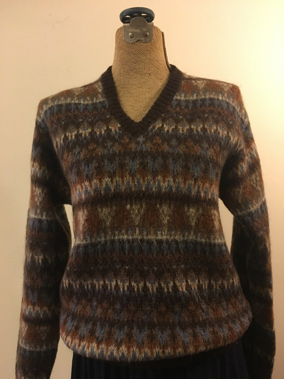 Jantzen wool and mohair 60's ski sweater