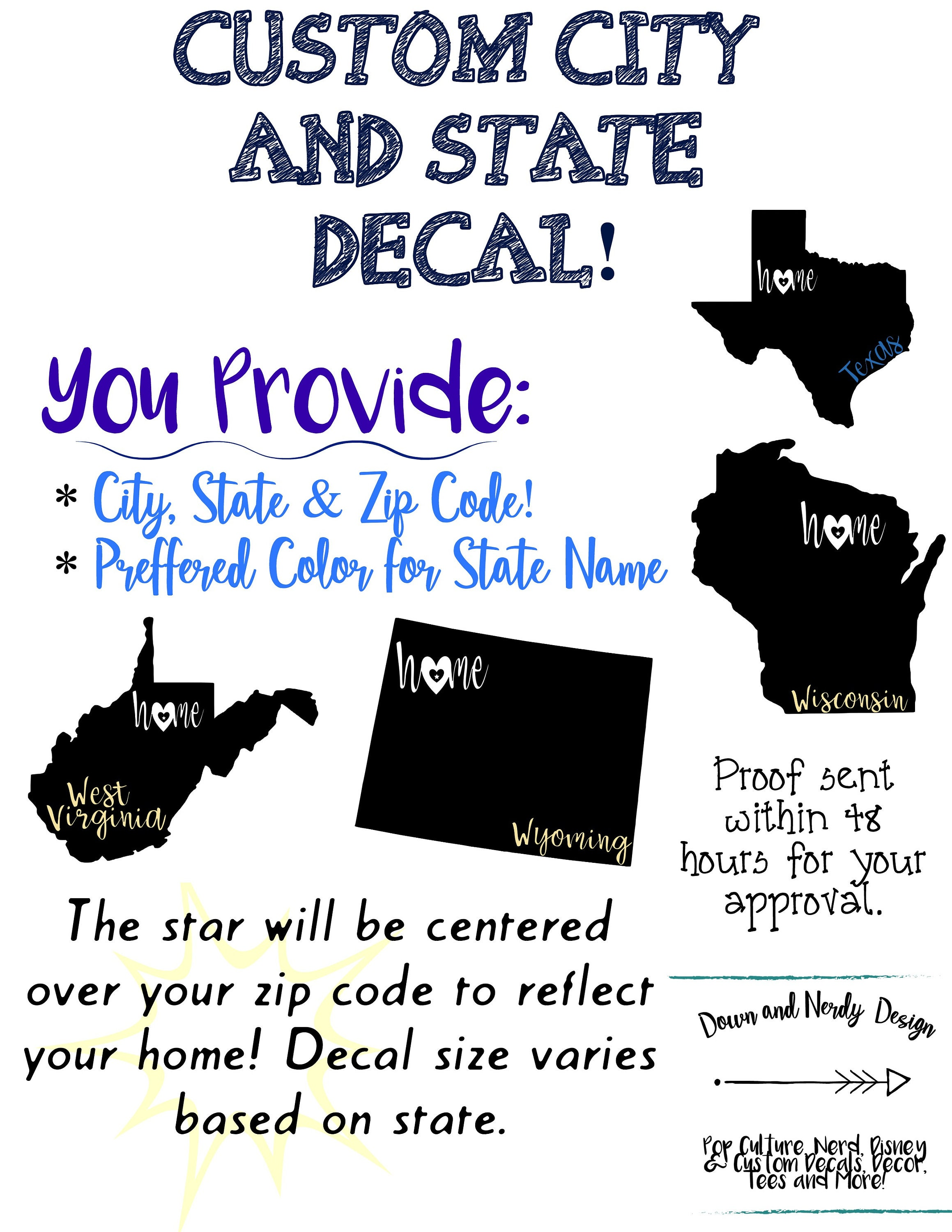 Home State Decal - All Fifty States! Any location! Customized hometown on 50 states and their abbreviations, 50 states nicknames, 50 states addicting games, 50 states numbers, 50 states maps, 50 states places, 50 states colleges and universities, 50 states rivers, 50 states white pages, 50 states state, 50 states practice sheet, printable united states postal codes, 50 states numbered, 50 states dates, 50 states movies, 50 states year founded, 50 states quilt pattern, 50 states word bank, 50 states largest to smallest, 50 states coloring activity,