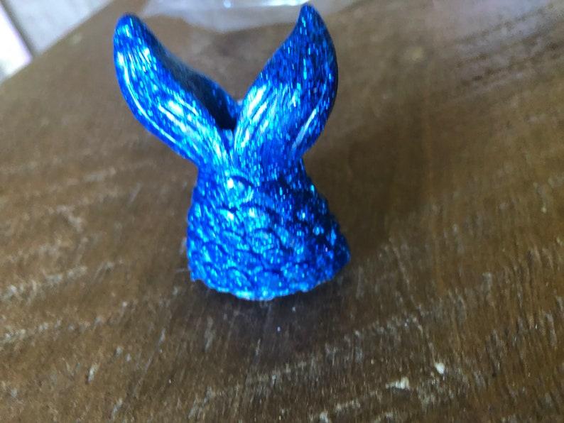 Blue Mermaid Tail Straw Topper Straw charm