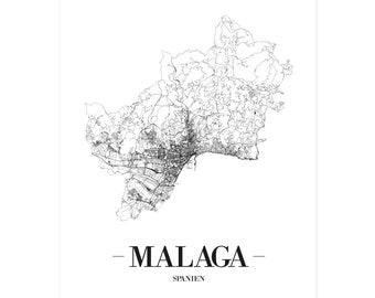 Spanien Karte Schwarz Weiß.Spanien Poster Etsy
