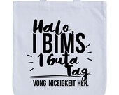 JUNIWORDS Pastel Jute Bag quot halo I pumice 1 Guta day Vong niceness. quot -100 made in Germany