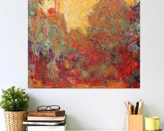 Claude Monet Das Haus in den Rosen Wall Art Poster Print