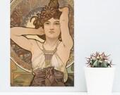 "JUNIWORDS poster ""Alfons Mucha: Gemstones Amethyst""-100% made in Germany"
