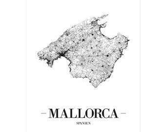 Spanien Karte Schwarz Weiß.Spanish Images Etsy