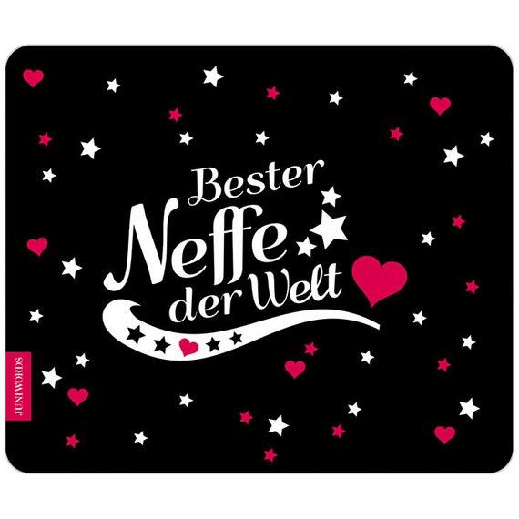 "JUNIWORDS Mauspad Mousepad /""Beste Tante/"" ver Motive Geburtstag Geschenk X-Mas"