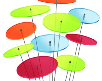 SUNPLAY Sun catcher s 7 cm Sets 10, 20 or 50 pieces of discs different colors - 100% Made in Germany