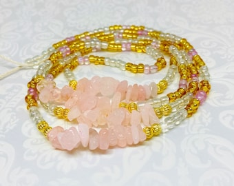 African glass beads Block African beads Clear waist beads African waist beads Crystal waist beads Belly chains